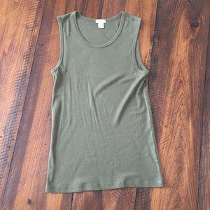 J Crew tee shirt shell, small